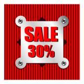 Försäljning procent — Stockvektor