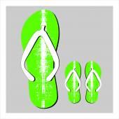 Colorful flip flops set — Stock Vector