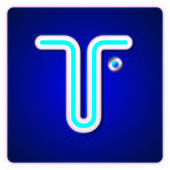 Modrá kovová písma — Stock vektor
