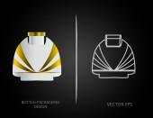 Perfume bottles — Stock Vector