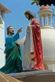 Apostle Thomas and Jesus Christ — Stock Photo