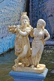 Radha and Krishna in Krishnarajsagar — Stock Photo
