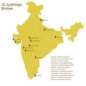 Twelve Jyotirlingas — Stock vektor