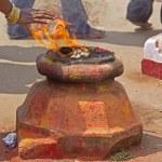 Hindu fire purification — Stock Photo #60621135