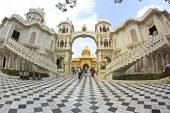 Yard of Krishna-Balaram mandir — Stock Photo