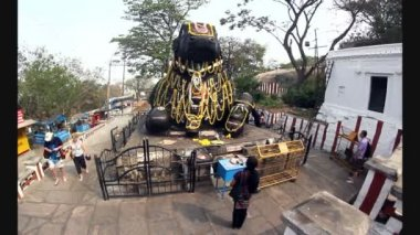 Nandin heykeli — Stok video