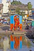 Çocuk ve Hanuman — Stok fotoğraf