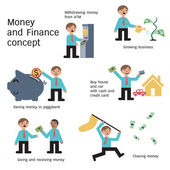 Money and finance — Stock Vector