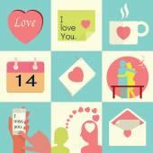 Love set background — 图库矢量图片