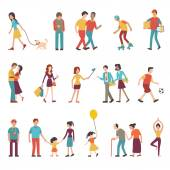 People in various lifestyles — Stock Vector