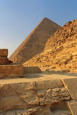 Pyramids of Giza in Cairo, Egypt — Stock Photo