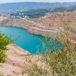 Artificial the quarry with blue water Balaklava. — Stock Photo #68752691