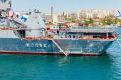 SEVASTOPOL, CRIMEA - MAY 9: Parade of warships  — Zdjęcie stockowe