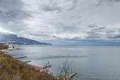 Southern Coast of Crimea. Viiew of Yalta city. — Stock Photo