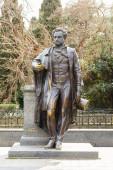 Monument comme Pouchkine dans la ville de Yalta. — Photo