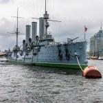 Cruiser Avrora in the city St.-Petersburg. Russia — Stock Photo #78094218