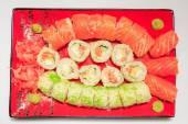Sushi. The traditional Japanese cuisine — Stock Photo