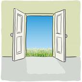Otevřené dveře — Stock vektor