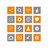 Tablet social icons web vector button — Stock Vector