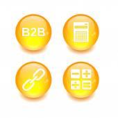 Button icon set 3D internet — Stock Vector