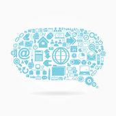 Cloud Internet connection dialogue vector icons — Stock Vector