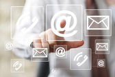 Business button messaging mail icon sending web — Stock Photo