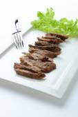 Roast beef sliced,Thai food — Stock Photo