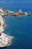Blue sea and rocks — Stock Photo