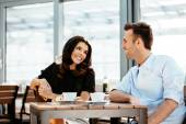 Professionals chatting during a coffee break — Stock Photo