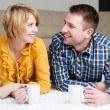 Couple at home drinking tea — Stock Photo #68860791