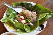 Sour pork or Nham — Stock Photo