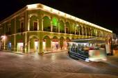 CAMPECHE, MEXICO - FEBRUARY 17,2014: night view of main square in Campeche, Mexico. — Stock Photo