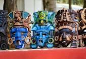 Turquoise mayan mask — Stock Photo