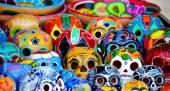 Mexicana pilha de crânios — Fotografia Stock