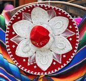 Colorful Mexican sombrero souvenirs — Stock Photo