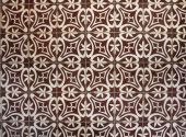 Tiled floor with brown Mediterranean decorations — Stock Photo