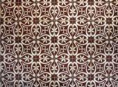 Tiled floor with brown Mediterranean decorations — Стоковое фото