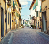 Street in small Tuscany town — Stock Photo