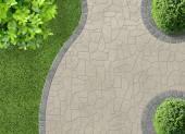 Garden Detail in aerial view — Stock Photo