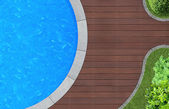 Pool from above — Stock Photo