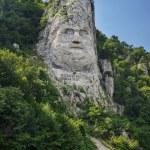 Постер, плакат: Decebalus statue on Danube river