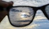 Watching through sunglasses  — Stock Photo