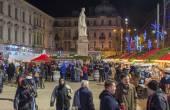Christmas market in Bucharest — Stock Photo