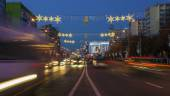 Christmas lights in Bucharest — Stock Photo