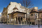 Stavropoleos Monastery in the old town area of Bucharest — Stock Photo