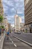Victory Avenue (Calea Victoriei), famous street of Bucharest, Ro — Stock Photo
