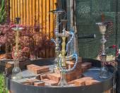Hookah on the streets of the Old Town in Bucharest — Stock Photo