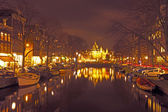 Waag building by the night — Stockfoto