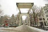 Snowy Amsterdam — Foto de Stock