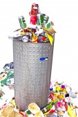 Container full of garbage — Stock Photo
